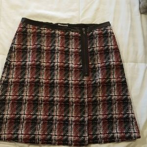 Plaid Side Zip Skirt